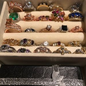 New rings all different sizes, stones and metals